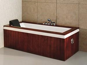 Baignoire baln o atlas la baignoire luxe plaqu e bois for Balneo ronde pas chere le havre