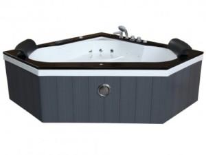 Le modèle de baignoire balnéo d'angle Santorino