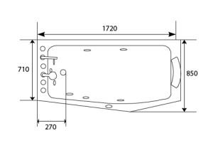 Les dimensions d'une baignoire de balnéothérapie classique